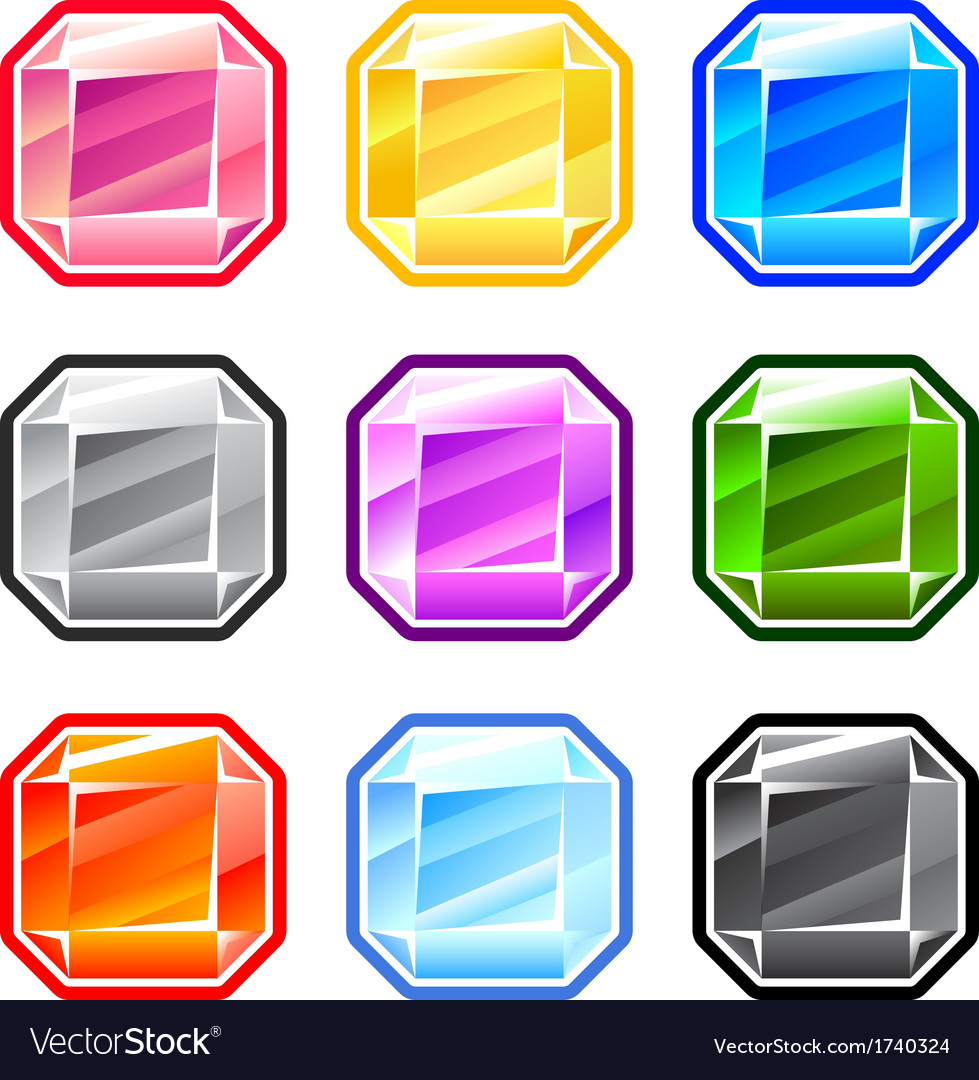Colourful square diamonds vector | Price: 1 Credit (USD $1)