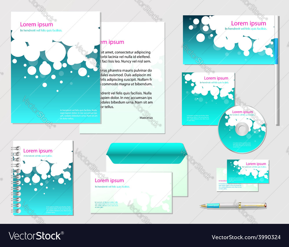 Corporate identity template company style for vector | Price: 1 Credit (USD $1)