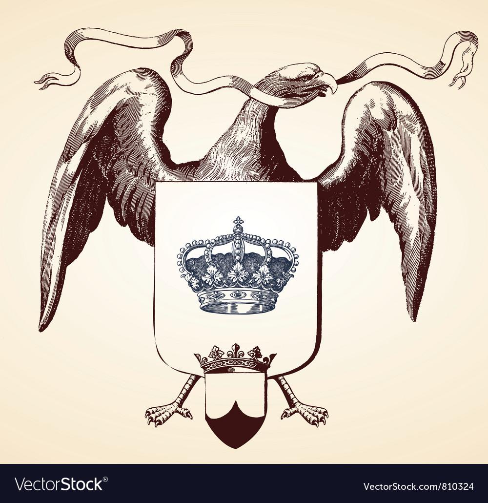 Eagle insignia vector | Price: 1 Credit (USD $1)