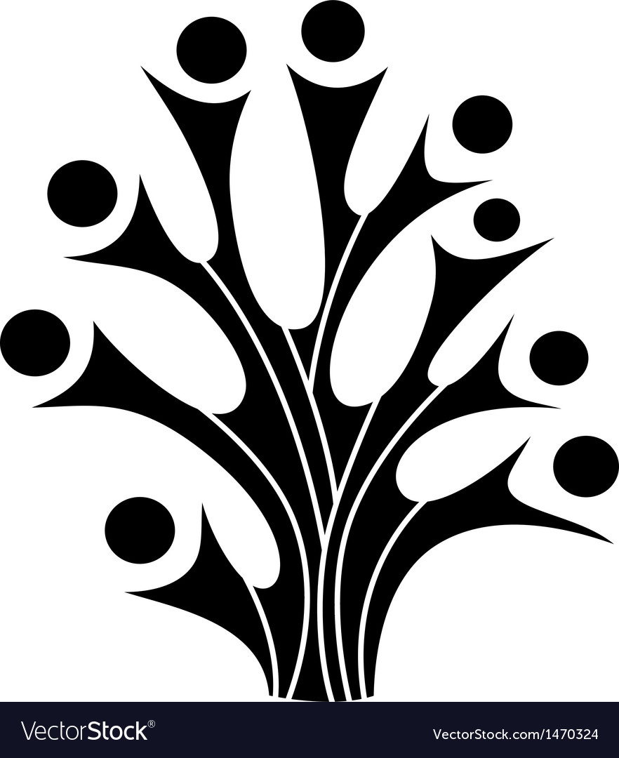 Family tree symbol vector | Price: 1 Credit (USD $1)