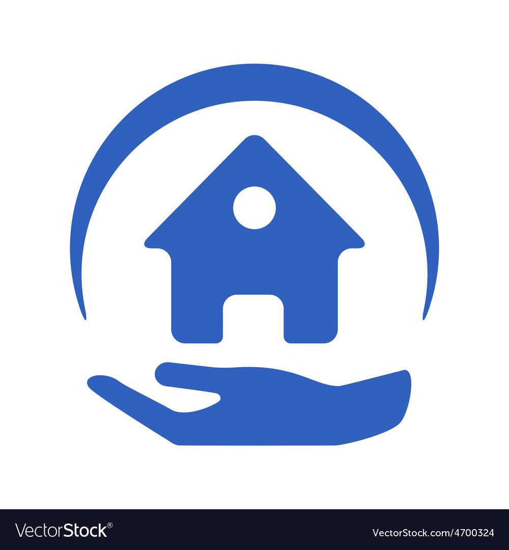 Home insurance logo vector | Price: 1 Credit (USD $1)