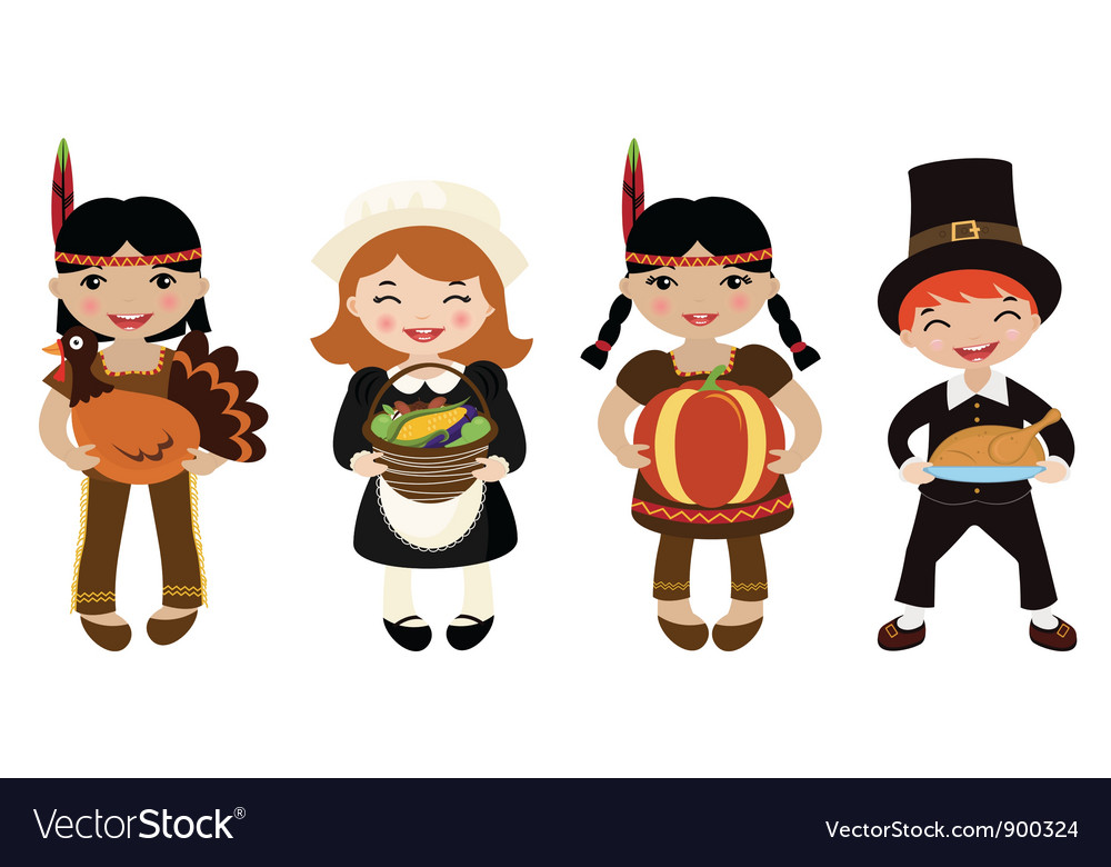 Indians and piligrims vector   Price: 3 Credit (USD $3)