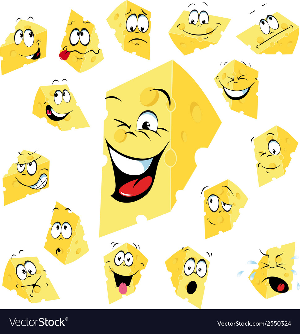 Piece of cheese cartoon vector | Price: 1 Credit (USD $1)