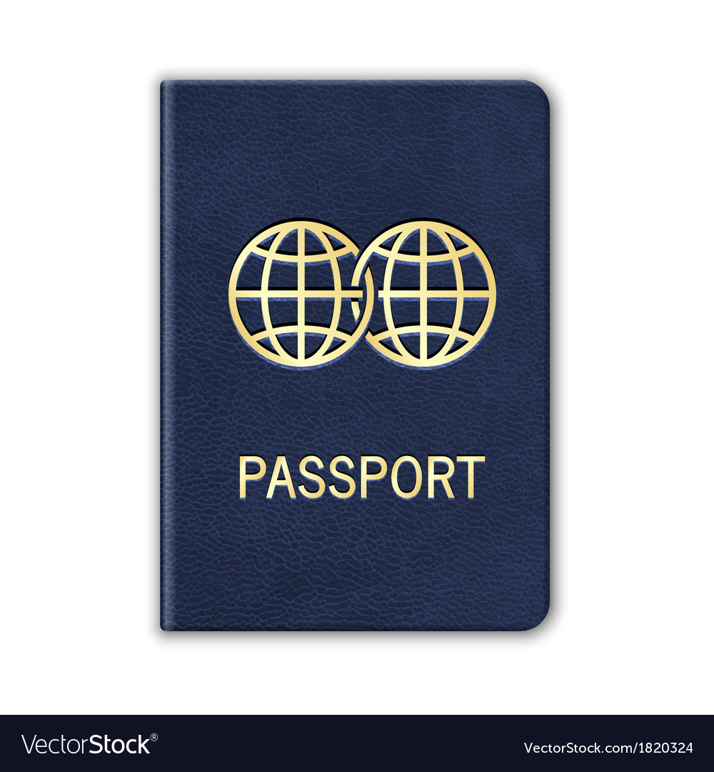 Realistic passport isolated on white vector | Price: 1 Credit (USD $1)