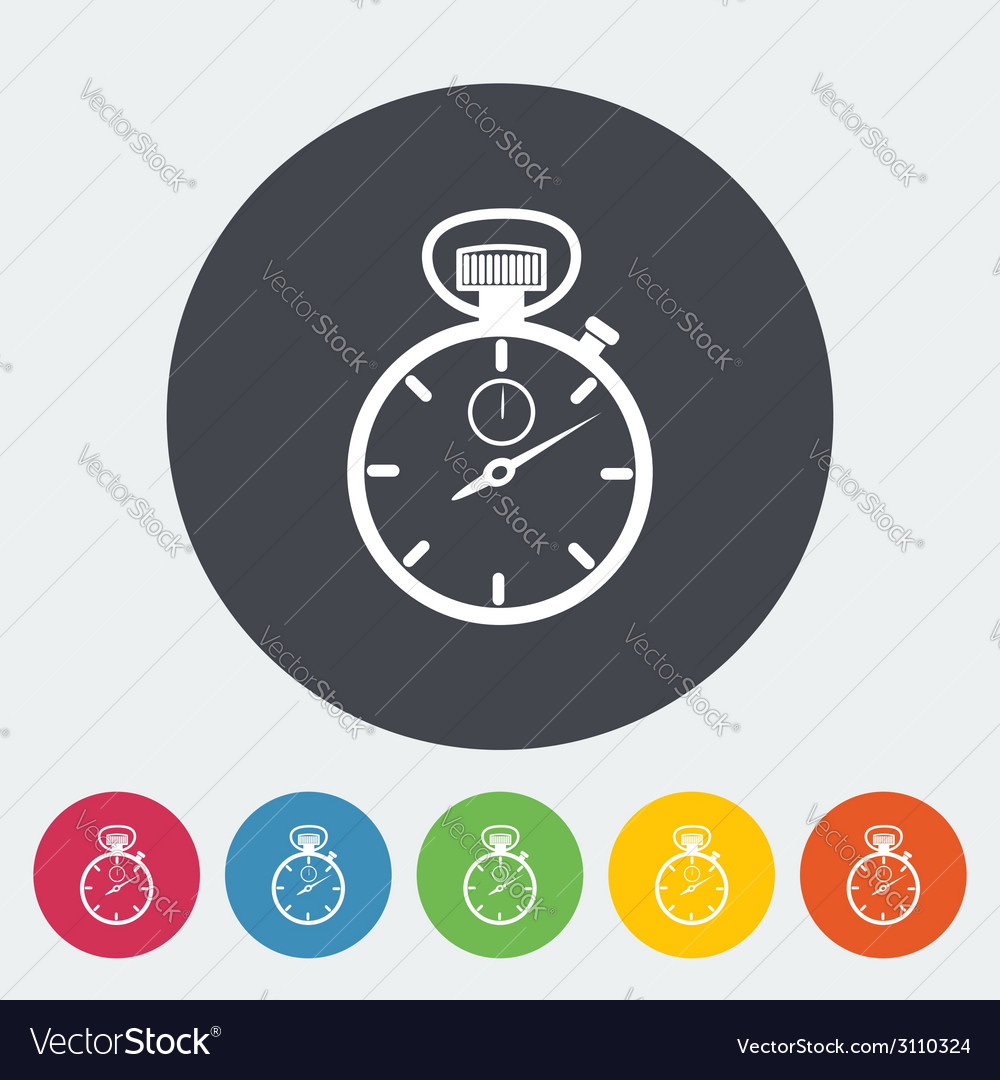 Stopwatch icon vector | Price: 1 Credit (USD $1)