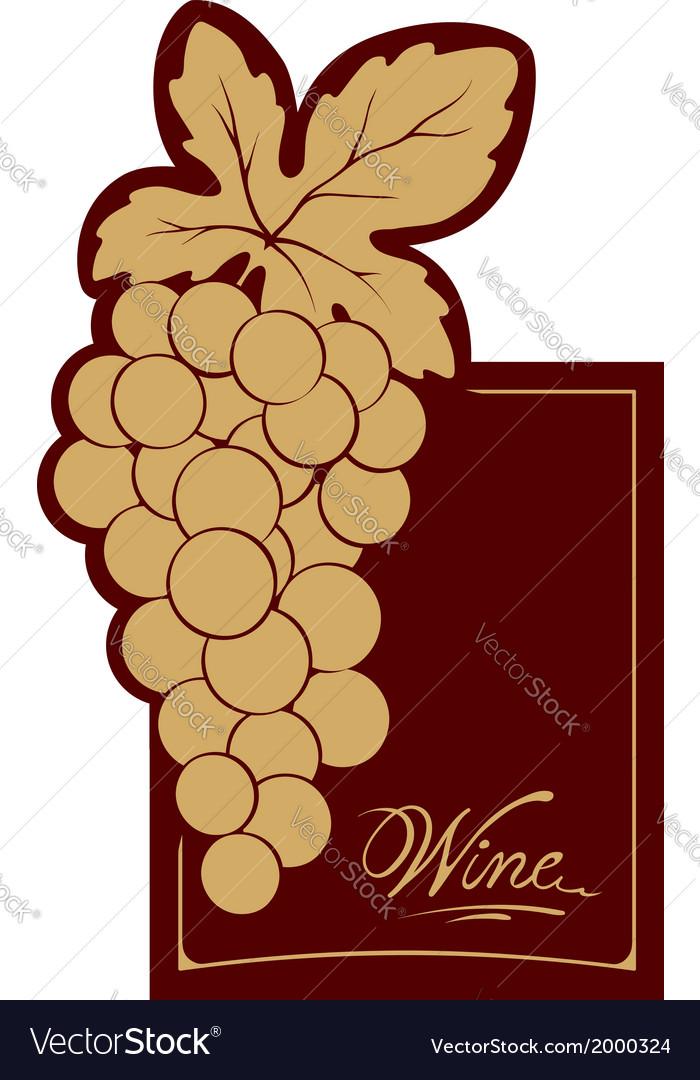 Wine label - gold vine vector | Price: 1 Credit (USD $1)