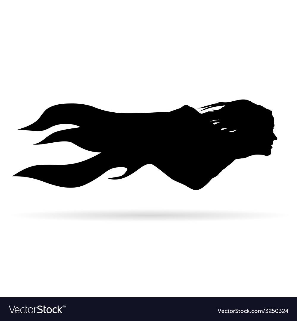 Woman head vector | Price: 1 Credit (USD $1)