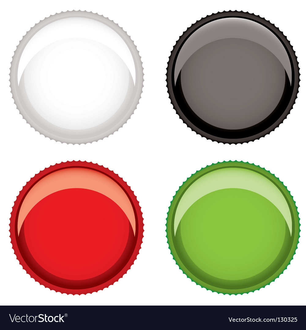 Beer bottle top vector | Price: 1 Credit (USD $1)