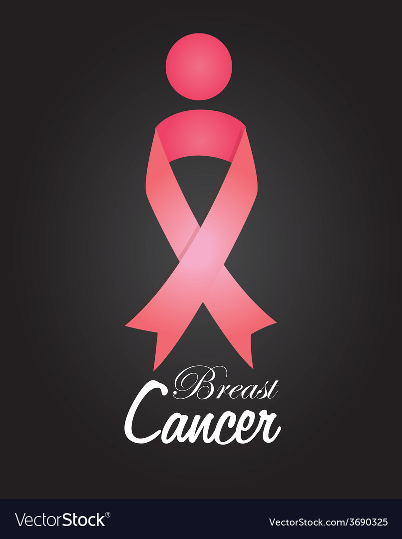 Cancer design over black background vector | Price: 1 Credit (USD $1)