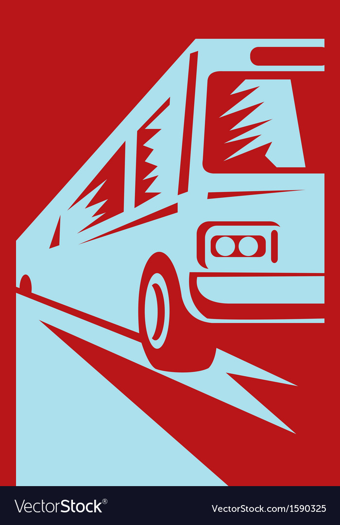 Coach shuttle tourist bus vector | Price: 1 Credit (USD $1)