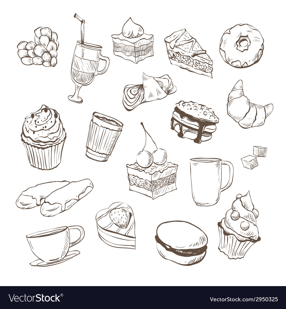 Confection drawing vector | Price: 1 Credit (USD $1)