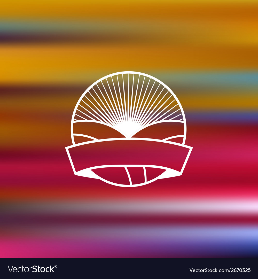 Embleme on blurred background vector | Price: 1 Credit (USD $1)