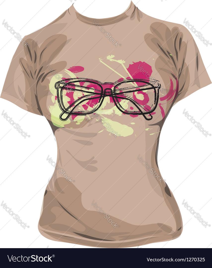 Eyeglasses tee vector | Price: 1 Credit (USD $1)