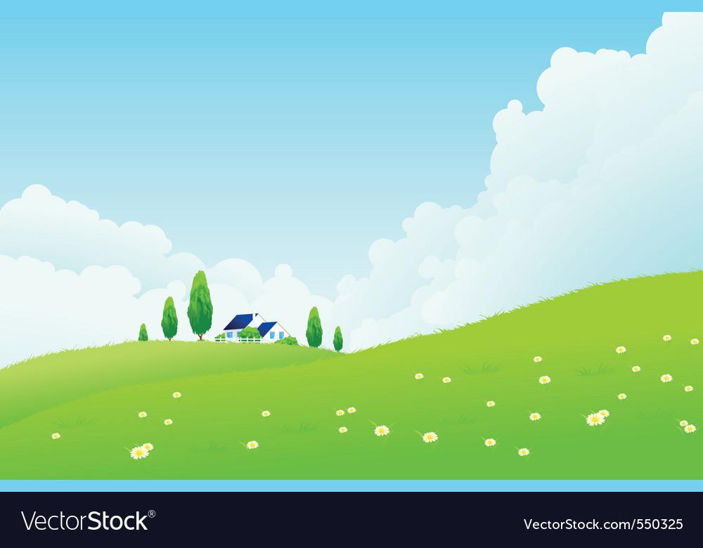 Farm house vector | Price: 1 Credit (USD $1)