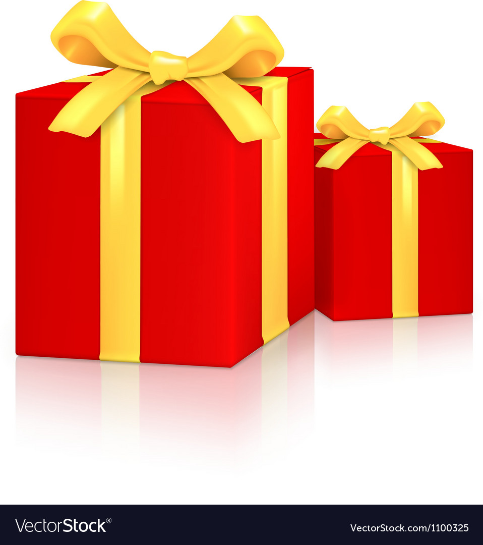 Gift red boxes vector   Price: 1 Credit (USD $1)