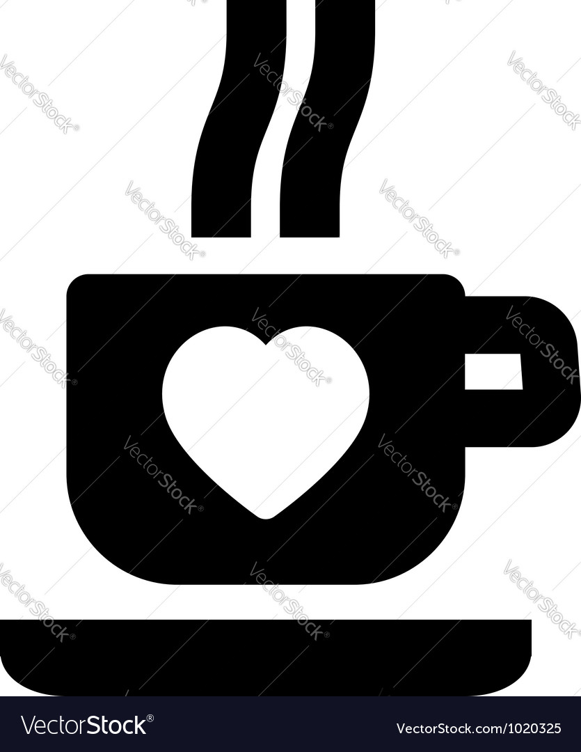 Hot beverage icon vector | Price: 1 Credit (USD $1)