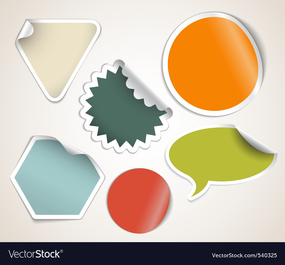 Label stickers vector | Price: 1 Credit (USD $1)