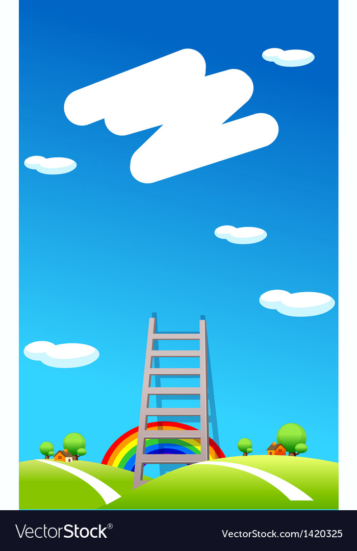 Ladder to the sky vector | Price: 1 Credit (USD $1)