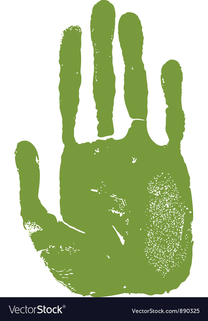 Man right hand print vector | Price: 1 Credit (USD $1)