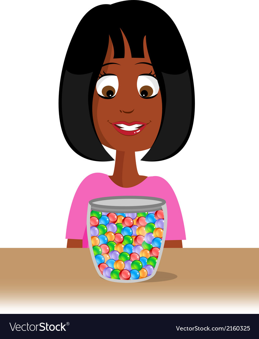 Marbles jar vector | Price: 1 Credit (USD $1)