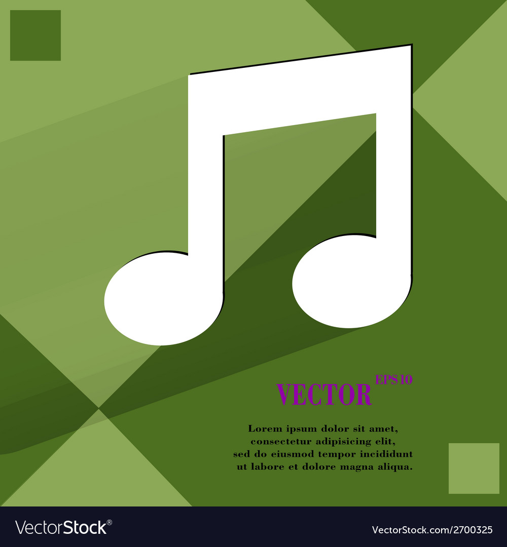 Music note flat modern web design on a flat vector | Price: 1 Credit (USD $1)