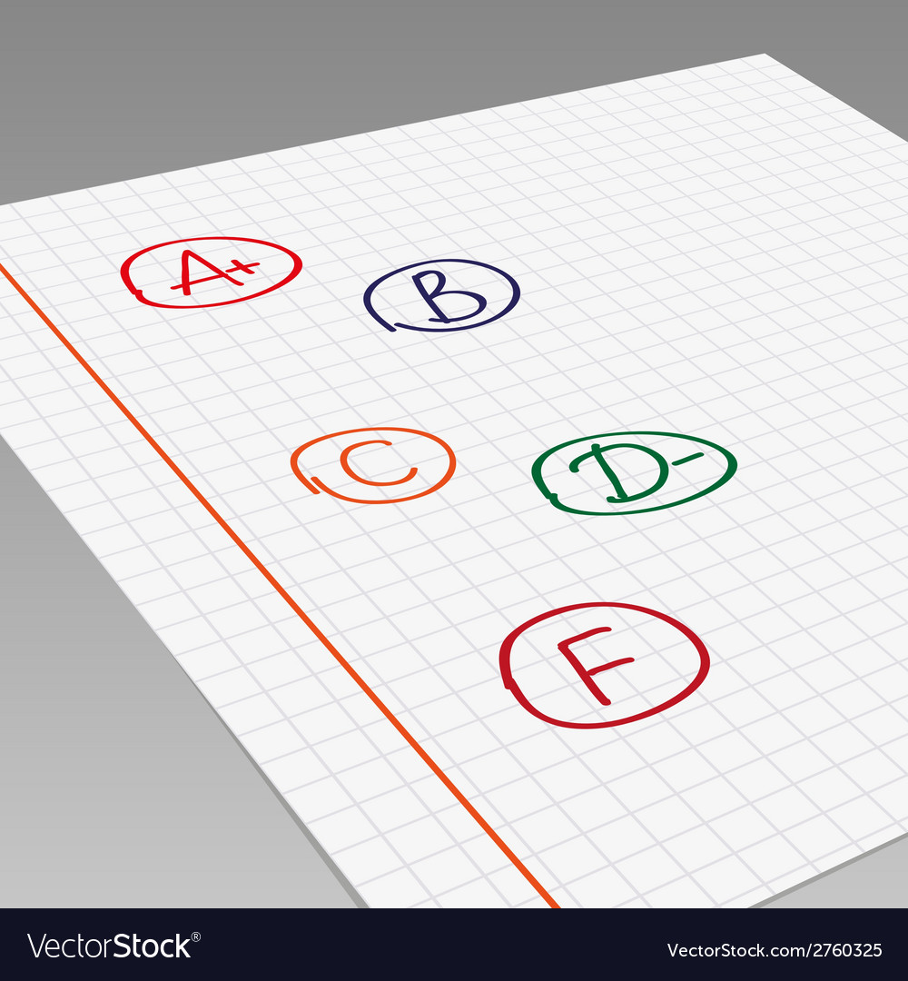 School grades vector | Price: 1 Credit (USD $1)