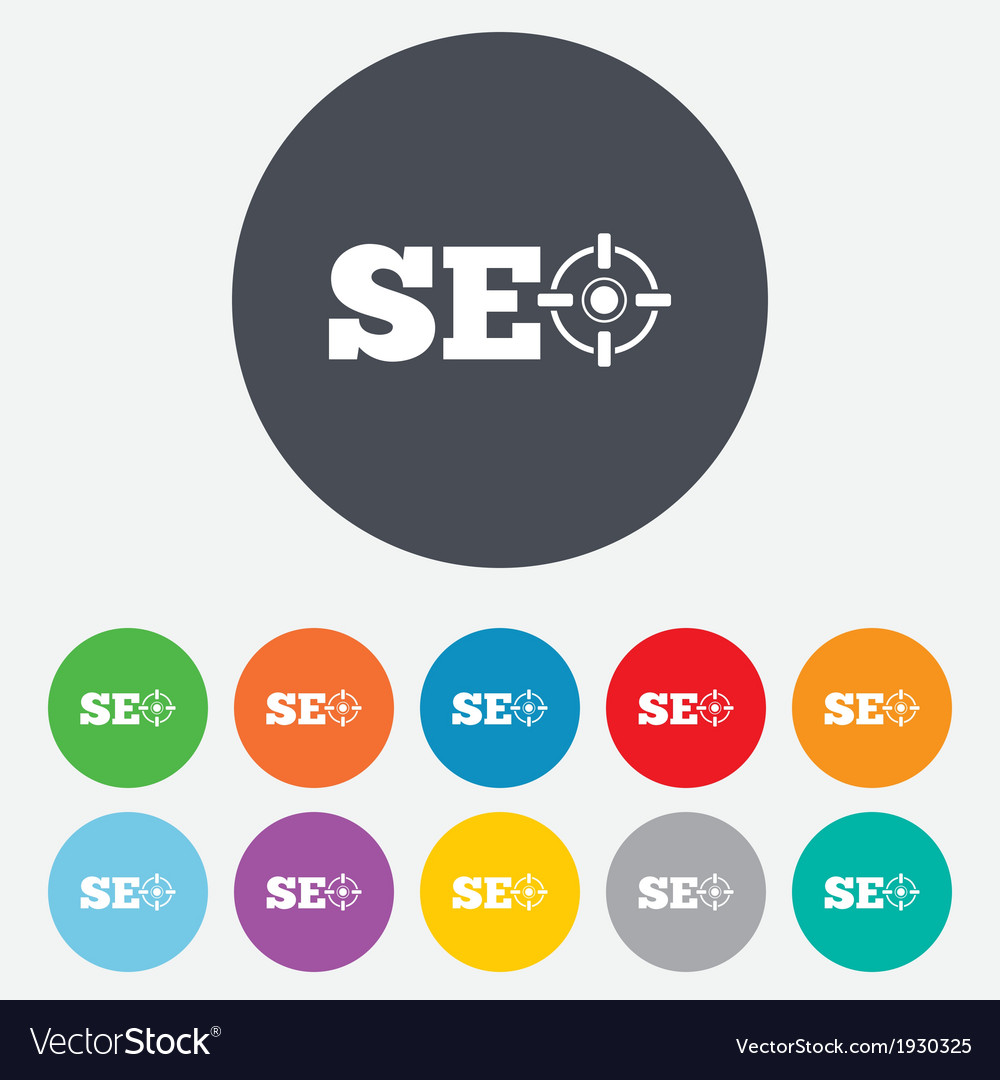 Seo sign icon search engine optimization symbol vector | Price: 1 Credit (USD $1)