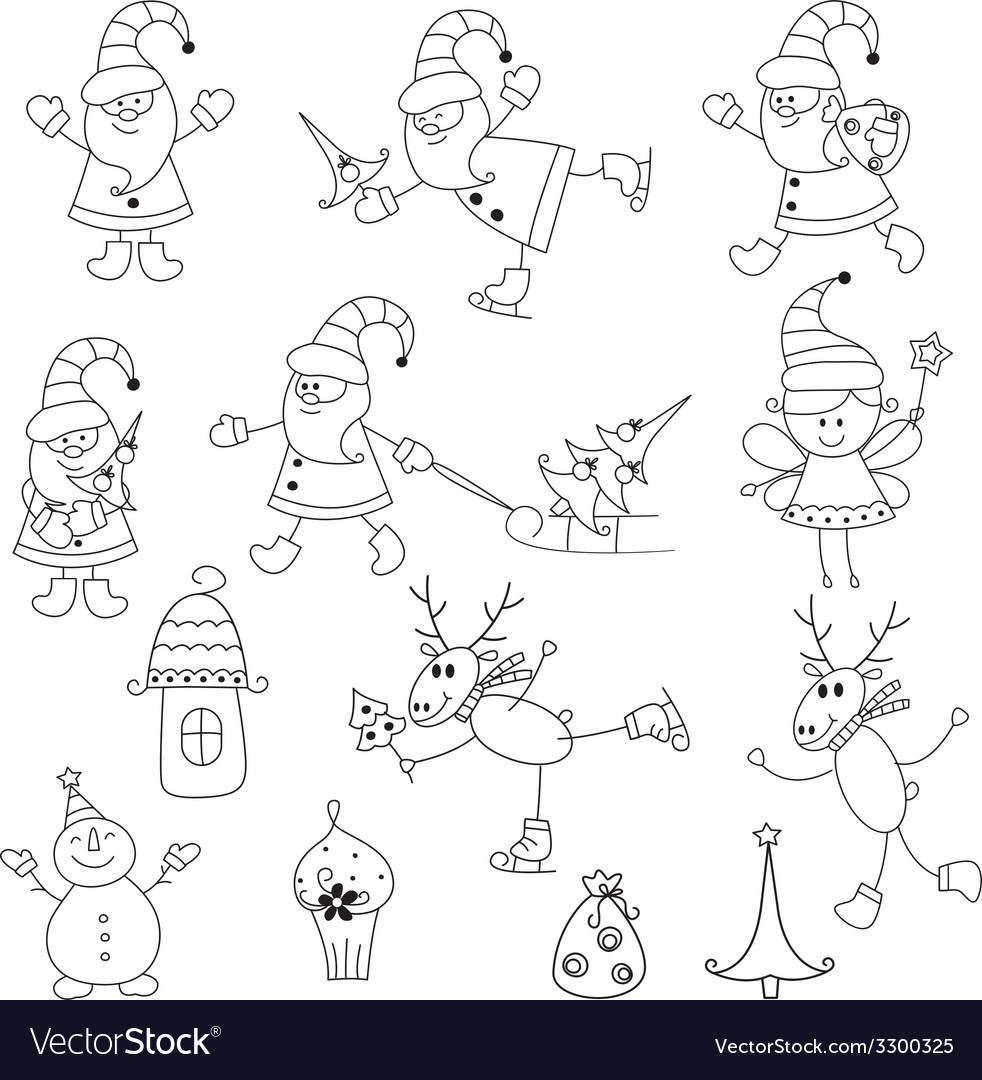 Set of christmas icons vector | Price: 1 Credit (USD $1)