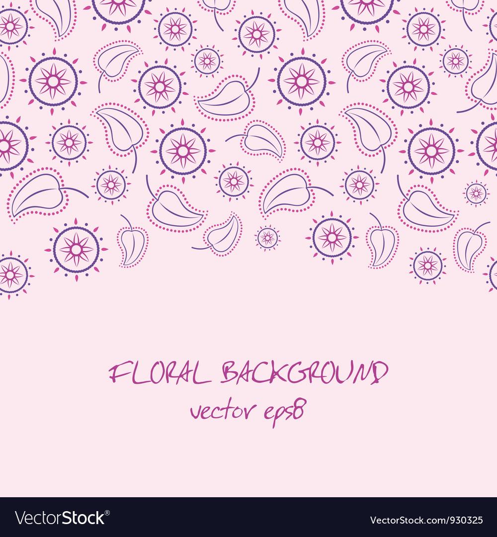 Violet floral background vector   Price: 1 Credit (USD $1)
