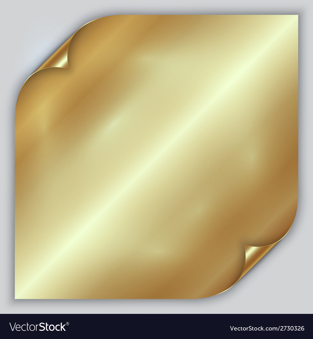 Abstract golden metallic rolled foil sheet vector | Price: 1 Credit (USD $1)