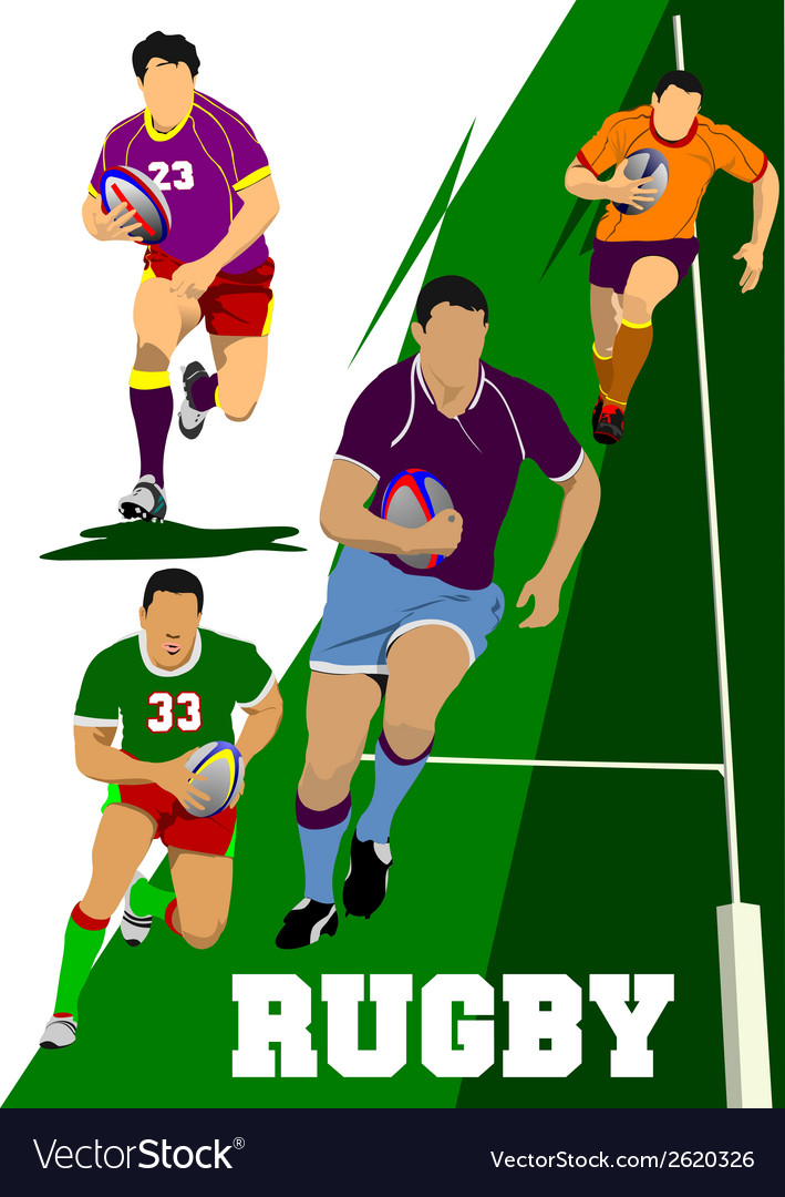 Al 0442 rugby set vector | Price: 1 Credit (USD $1)