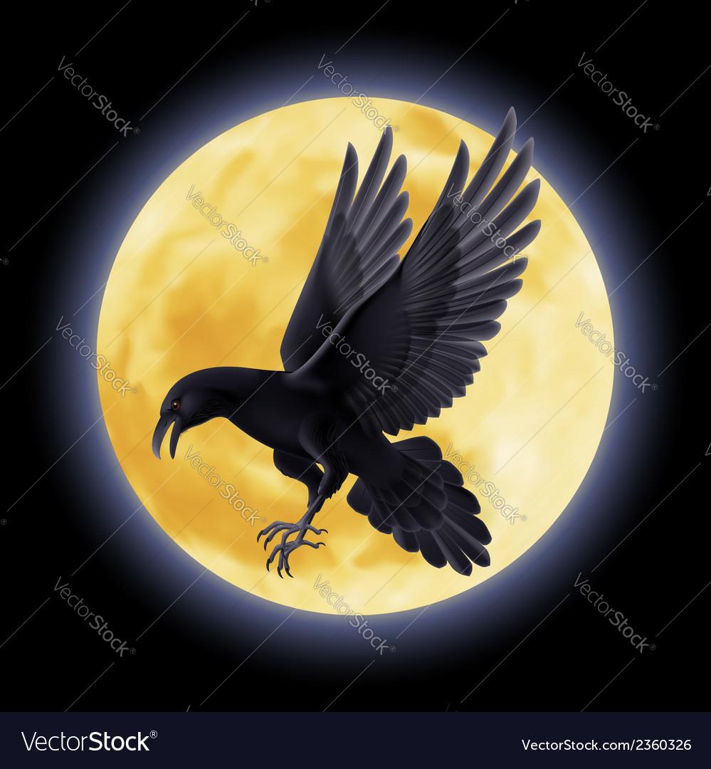 Black raven vector | Price: 1 Credit (USD $1)