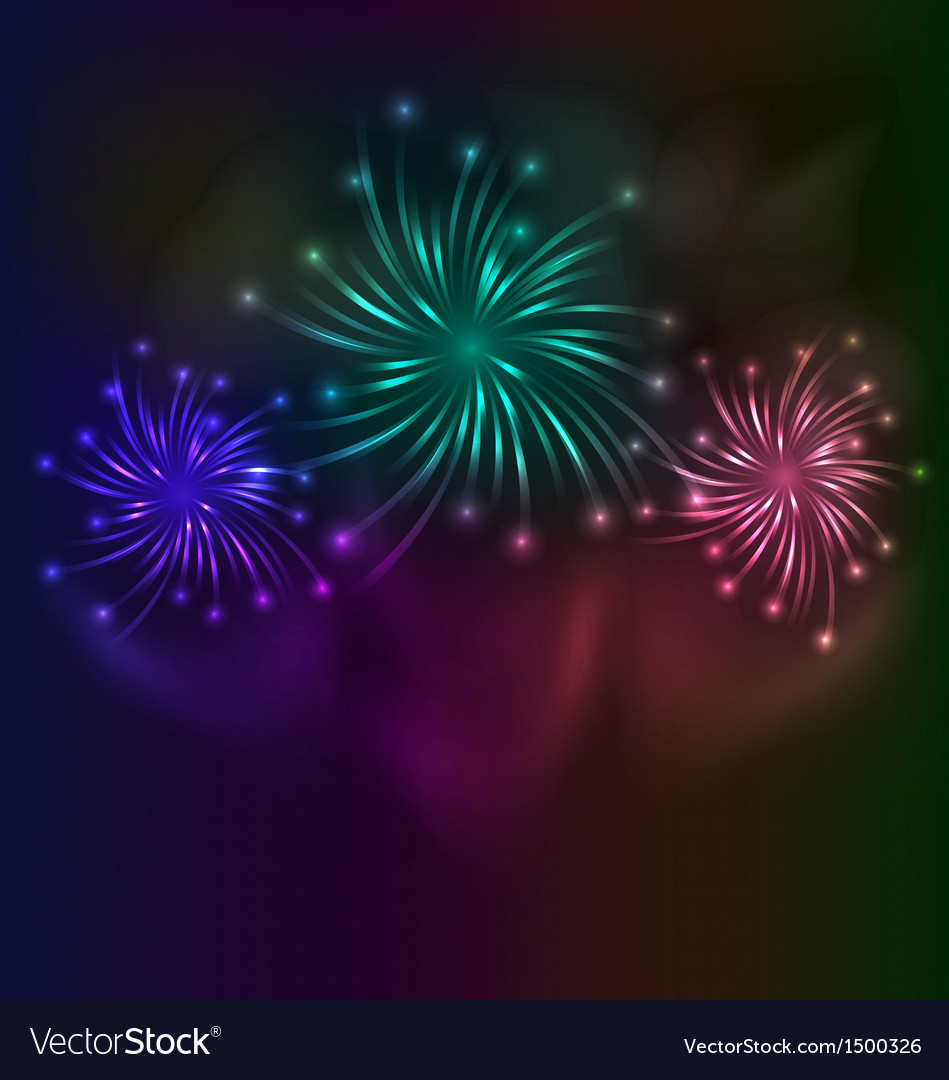 Colorful fireworks background vector | Price: 1 Credit (USD $1)