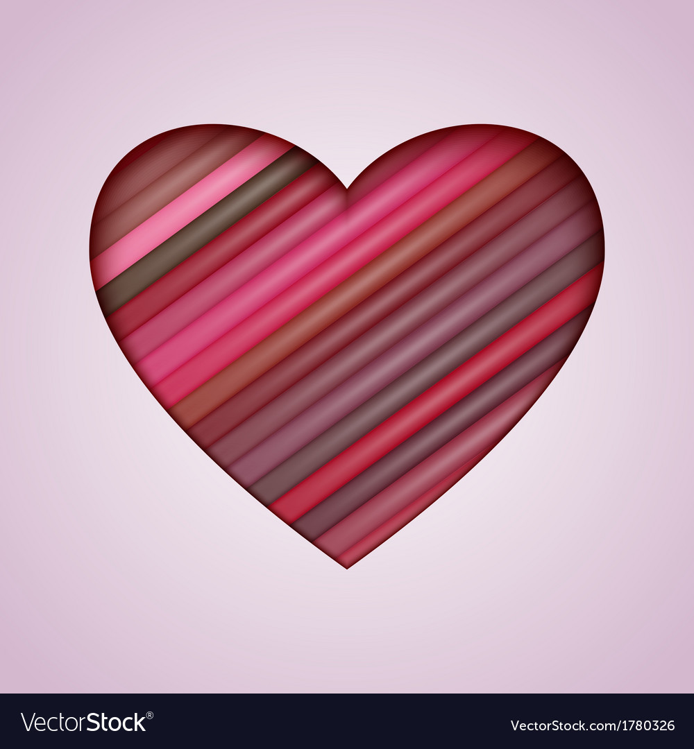 Heart made from color stripes vector | Price: 1 Credit (USD $1)