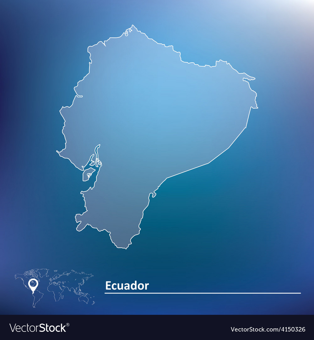 Map of ecuador vector | Price: 1 Credit (USD $1)
