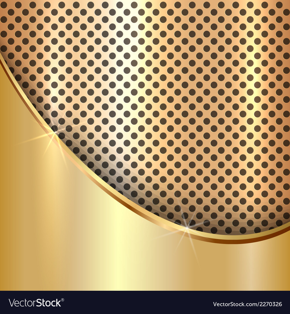 Metallic gold cell decorative background vector | Price: 1 Credit (USD $1)