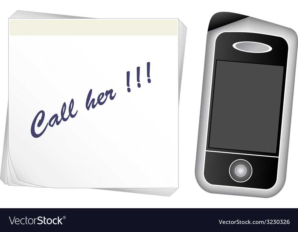 Note paper - mobile phone vector | Price: 1 Credit (USD $1)
