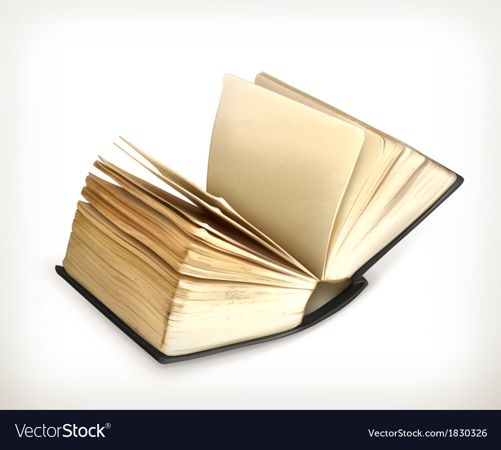 Old book icon vector | Price: 1 Credit (USD $1)