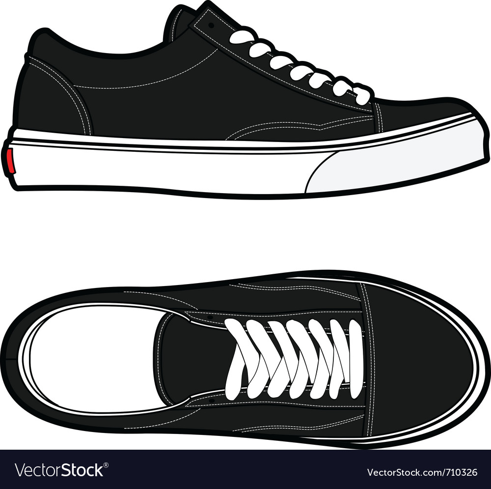 Old school shoes vector