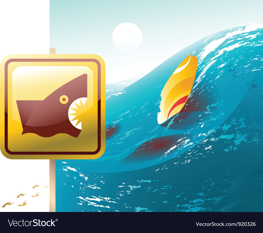 Shark attack vector | Price: 3 Credit (USD $3)