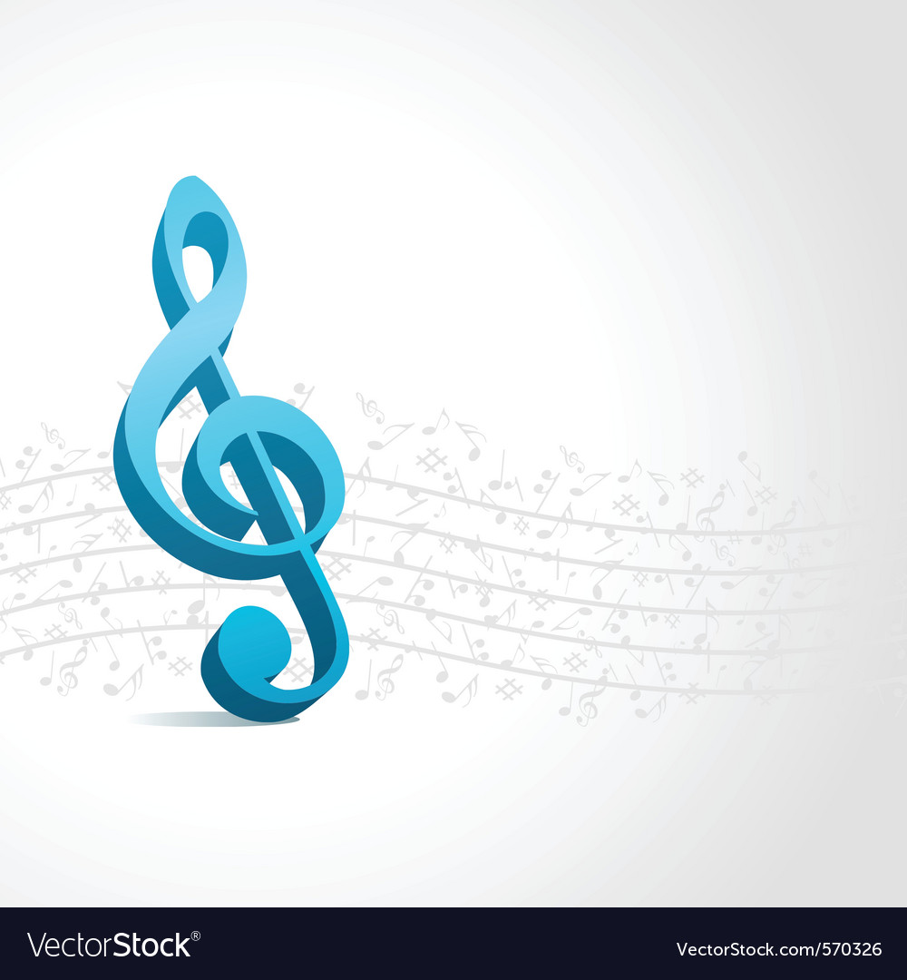 Treble clef music background vector | Price: 1 Credit (USD $1)