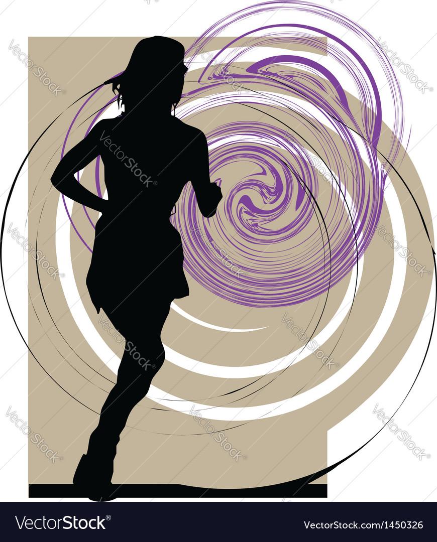 Woman running vector | Price: 1 Credit (USD $1)