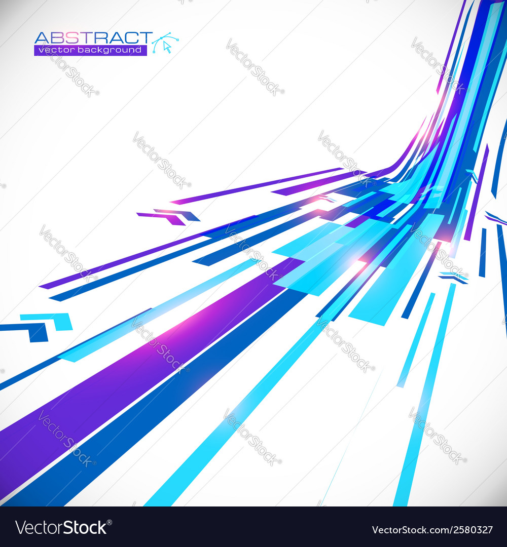 Abstract blue shining lines background vector | Price: 1 Credit (USD $1)