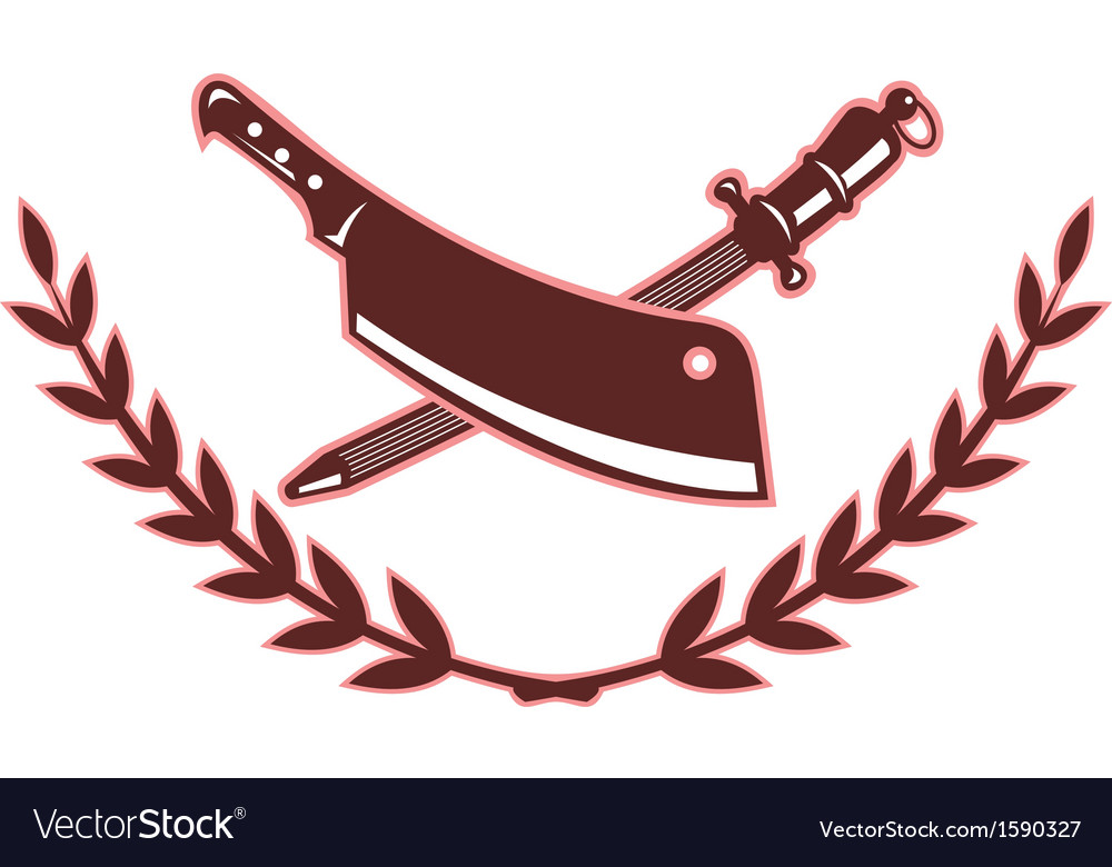 Butchers knife and blade sharpener vector | Price: 1 Credit (USD $1)