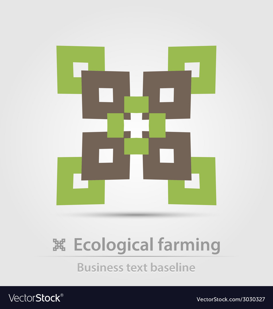 Ecological farming business icon vector | Price: 1 Credit (USD $1)
