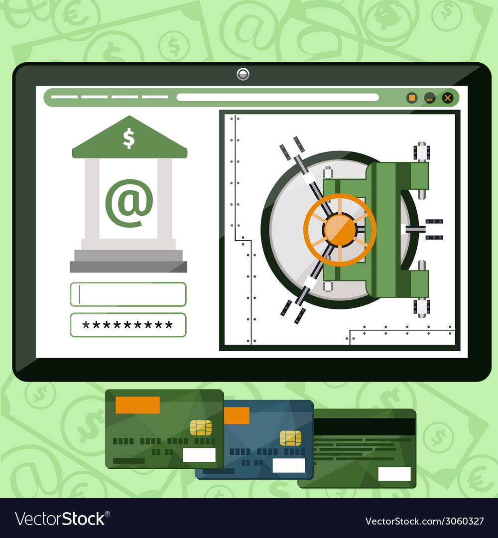 Internet online banking vector | Price: 1 Credit (USD $1)