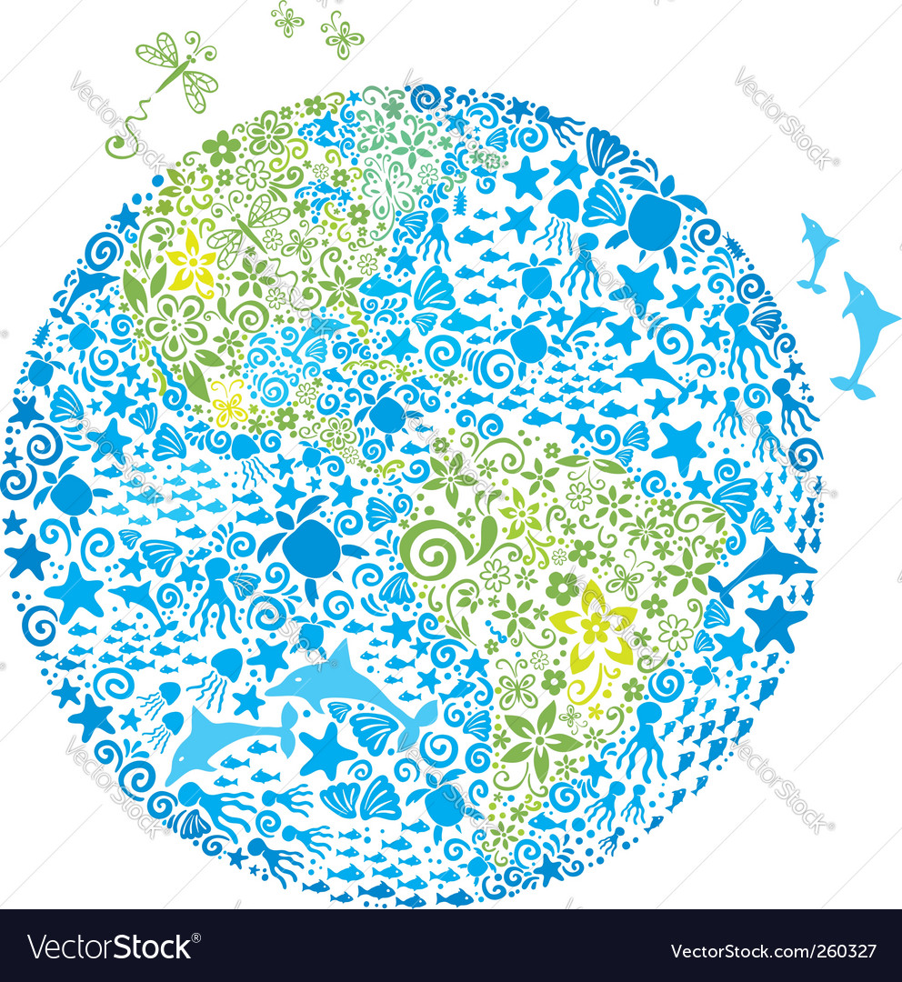 Living planet vector | Price: 1 Credit (USD $1)