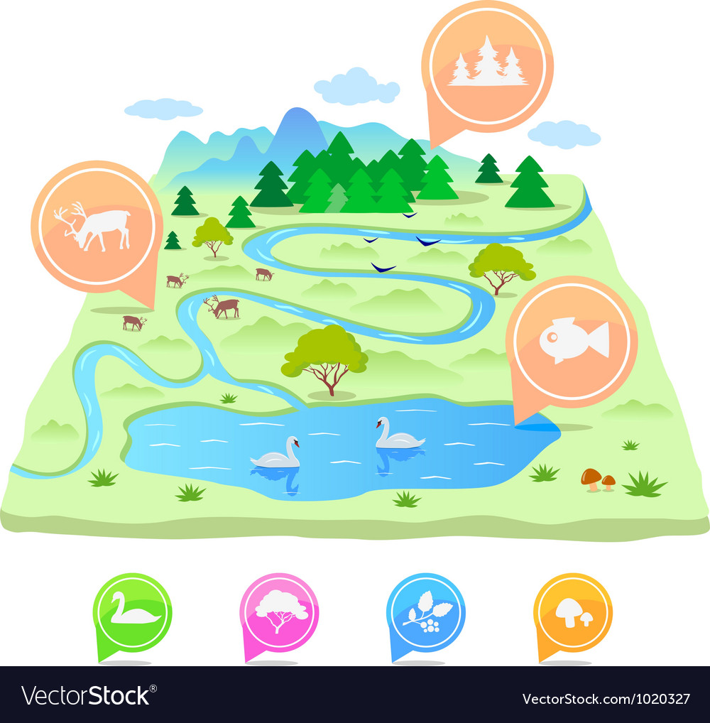 Map nature vector | Price: 1 Credit (USD $1)