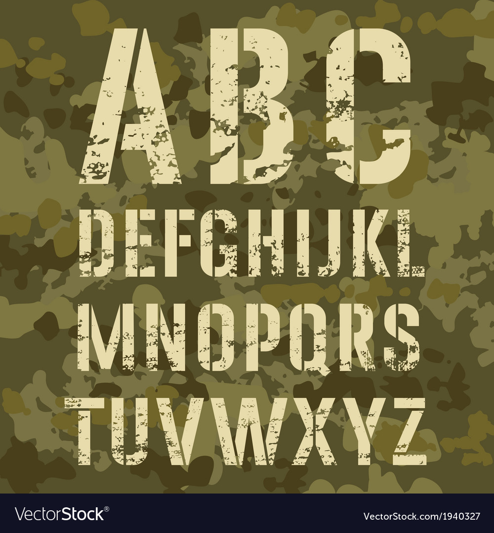 Military alphabet vector | Price: 1 Credit (USD $1)