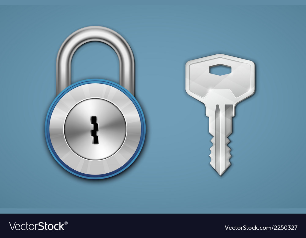 Padlock and key vector | Price: 1 Credit (USD $1)